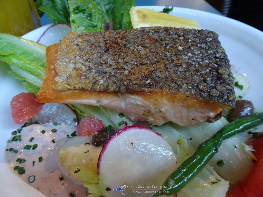 Flower Child Cafe Tasmanian crispy skin salmon by sydney4thai