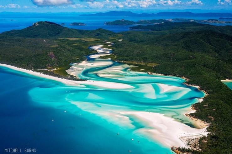 Travel Australia สถานที่ท่องเที่ยวในออสเตรเลีย Whitehaven Beach- Whitsunday Island,Queensland