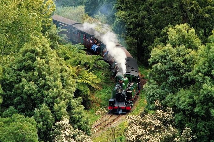 สถานที่ท่องเที่ยวเมลเบิร์น รถไฟไอน้ำ Puffing Billy