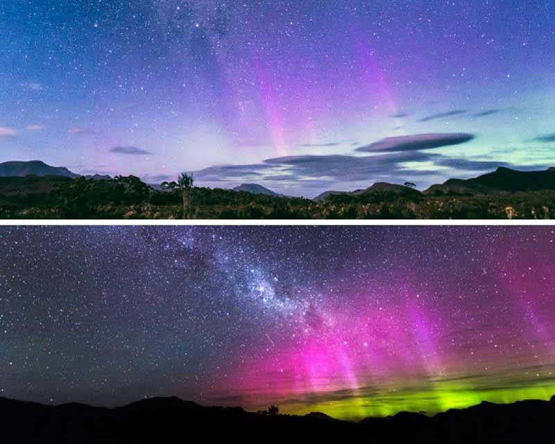 แสงใต้ ออโรรา ที่อุทยานแห่งชาติ เครเดิลเมาน์เทน (Crale Mountain)